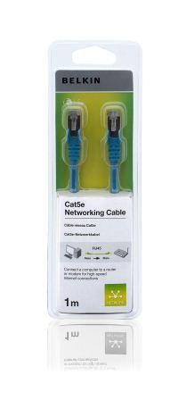 Belkin kabel CAT5e RJ45 datový modrý, 1m