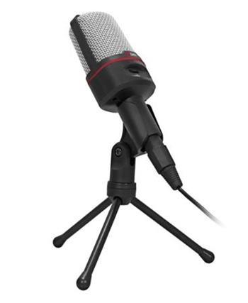 C-TECH Stolní mikrofon MIC-02, 3,5mm stereo jack,