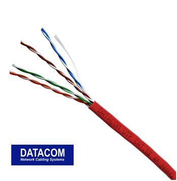 DATACOM UTP lanko CAT5E PVC 305m box červený