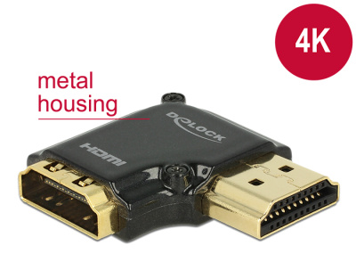 0733c6959 Delock Adapter High Speed HDMI with Ethernet – HDMI-A female > HDMI-A male  4K 90° ...