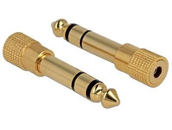 Delock adaptér stereo jack 6,35 mm samec na stereo jack 3,5 mm samice