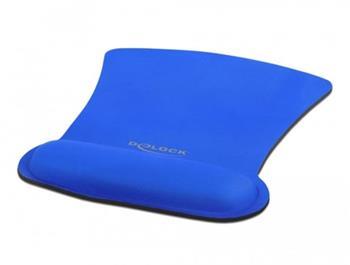 Delock Ergonomická podložka pod myš s opěrkou zápěstí modrý 255 x 207 mm
