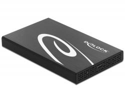 Delock Externí pouzdro pro HDD / SSD SATA 2.5? s rozhraním SuperSpeed USB 10 Gbps (USB 3.1 Gen 2)