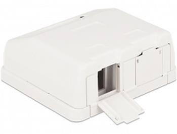 Delock Keystone Surface Mounted Box 2 Port with dust cover