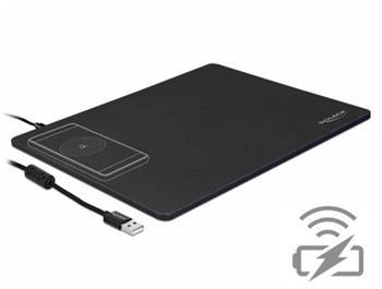 Delock USB podložka pod myš s funkcí bezdrátového nabíjení