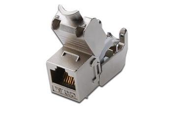 DIGITUS CAT 6A Keystone Jack, stíněný, re-embedded připojení bez nářadí