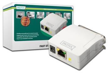Digitus Paralelní tiskový server, 1 port, 1x RJ45, 1x M Centronics, DB-36-pin