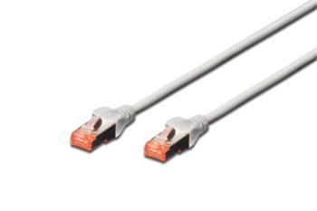 Digitus Patch Cable, S-FTP, CAT 6, AWG 27/7, LSOH, Měď,šedý 5m