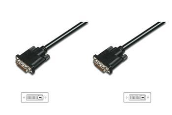 Digitus připojovací kabel DVI-D(24+1), Stíněný, DualLink, Černý, 1m