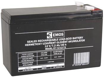 Emos baterie SLA 12V / 7.2 Ah, Faston 6.3 (250)