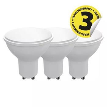 Emos LED žárovka MR16, 9W/60W GU10, NW neutrální bílá, 806 lm, Classic A+, 3 PACK