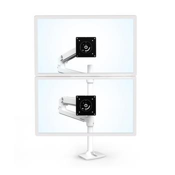 "ERGOTRON LX Dual Stacking Arm, Tall Pole, stolní ramena pro 2 lcd. max. 40"", flexibilní , bílé"