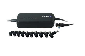 EVOLVEO Global Lite Plus,universální napájecí zdroj pro notebooky, DC 15-20V/ max 90W, USB port: 5V/1A max, 12 konektorů