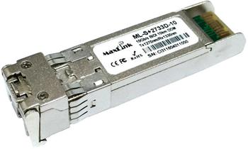 MaxLink 10G SFP+ optický modul, WDM, SM, Tx 1270/Rx1330nm, 10km, 1x LC konektor, DDM, Cisco compatible