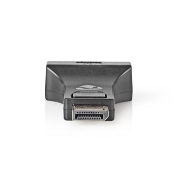 Nedis CCGB37925BK - 1x DisplayPort – DVI Adaptér | DisplayPort Zástrčka - DVI-I 24+5-pin Zásuvka | Černá barva