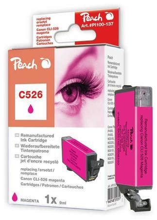PEACH kompatibilní cartridge Canon CLI-526, Magenta