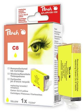 PEACH kompatibilní cartridge Canon CLI-8y, yellow, 13 ml