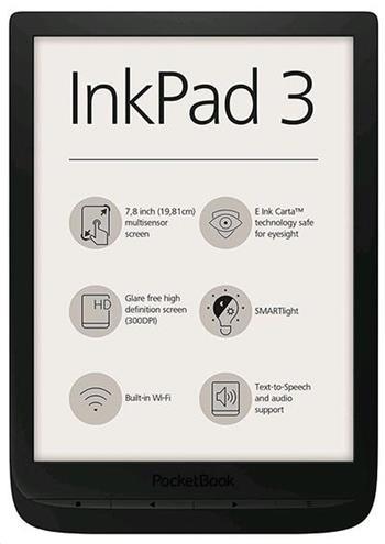 PocketBook 740 Inkpad 3, Black, černý ebook reader, 7,8´´ E-ink 1872 x 1404 LCD, Wifi, 8GB+SD