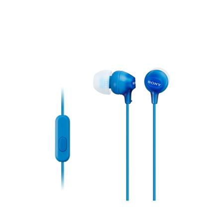 SONY MDR-EX15AP - Sluchátka do uší s mikrofonem - Blue