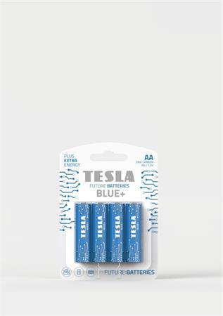 Tesla AA BLUE+ zinkouhlíková, 4 ks, ND