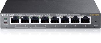 TP-Link TL-SG108PE PoE switch, 8x GLAN/4x PoE, 802.3af, 55W, 10/100/1000Mbps
