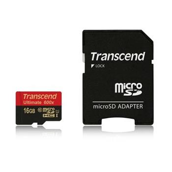 Transcend 16GB microSDHC (Class10) UHS-I 600x (Ult