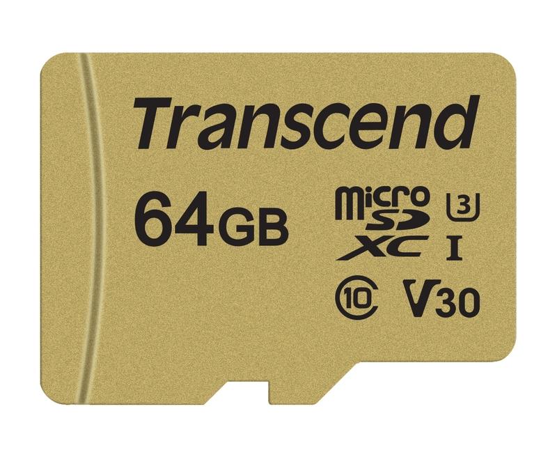 Transcend 64gb Microsdxc 500s Uhs I U3 V30 Class 10 Mlc Pametova