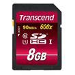 Transcend 8GB SDHC (Class 10) UHS-I paměťová karta, Read: 90MB/s; Write: 45MB/s