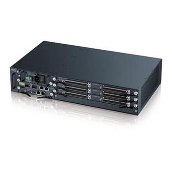 Zyxel IES4105M, 2U TEMPERATURE-HARDENED 4-SLOT CHASSIS MSAN WITH DC POWER MODULE (48V DC INPUT) & FAN MODULE
